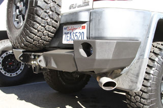 Picture of DEMELLO OFF-ROAD 3 PIECE REAR ALUMINUM BUMPER.